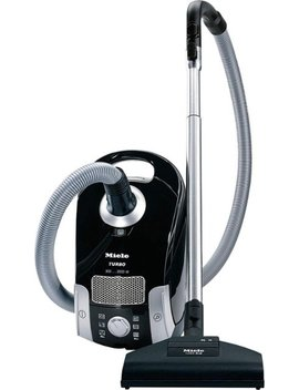 Compact C1 Turbo Team Canister Vacuum   Obsidian Back by Miele