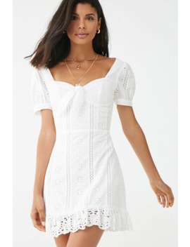 Floral Eyelet Lace Dress by Forever 21