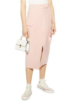 Split Utility Midi Skirt by Topshop