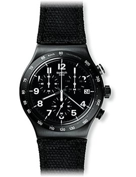 Swatch Irony Destination Nyc Black Dial Leather Strap Men's Watch Yvb402 by Swatch