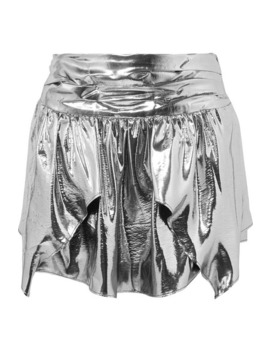 Kira Metallic Silk Blend Mini Skirt by Isabel Marant