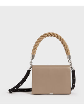 Harri Leather Square Crossbody Bag by Allsaints