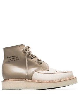 X George Cox Beige Creeper Hi Top Shoes by Midnight Studios