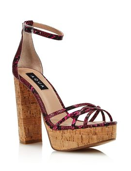 Women's Milo Snake Print Platform Sandals   100% Exclusive by Aqua