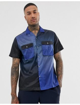 Asos Design Oversized Cut &Amp; Sew Nylon Shirt With Double Pockets by Asos Design