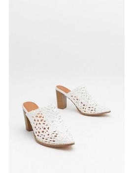 Woven Block Heel Mule by Nasty Gal