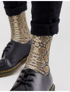 Asos Design Ankle Socks With Snake Print by Asos Design