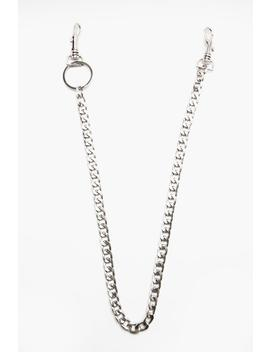 Chunky Jeans Chain In Silver by Boohoo