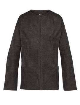 Ribbed Knit Linen Sweater by Rick Owens