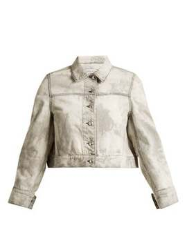 bleached-denim-cropped-jacket by eckhaus-latta
