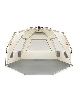 Easthills Outdoors Instant Shader Deluxe Xl Easy Up 4 Person Beach Tent Sun Shelter   Extended Zippered Porch Included by Easthills Outdoors