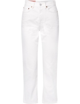 Mece Cropped High Rise Straight Leg Jeans by Acne Studios