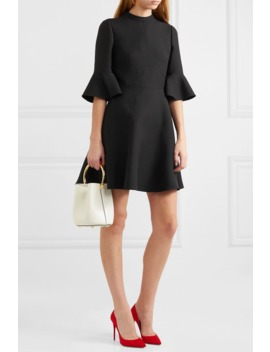 Wool And Silk Blend Crepe Mini Dress by Valentino
