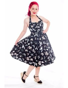 psychobilly-death-moth-butterfly-skull-swing-dress-~-gothic-rockabilly-plus-size by inspired-insanity