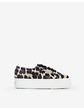 Superga Leopard Platform Sneakers by Express