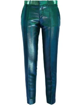 Iridescent Woven Patered Pants by Each X Other