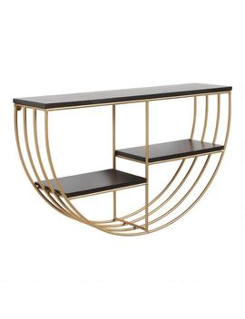 Half Round Gold And Black Wall Shelf by World Market