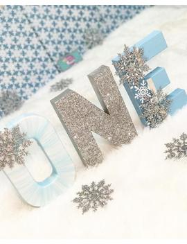 One Letters   Snowflake Decor   Snowflake Decorations   Winter Wonderland Decor   Winter Onederland   First Birthday Party   Glitter Letters by Etsy
