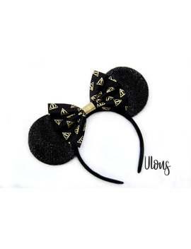 Harry Potter Mickey Ears, Harry Potter Minnie Ears, Harry Potter Ears, Mickey Ears, Minnie Ears, Harry Potter, Mouse Ears, Sparkly Mouse Ear by Etsy