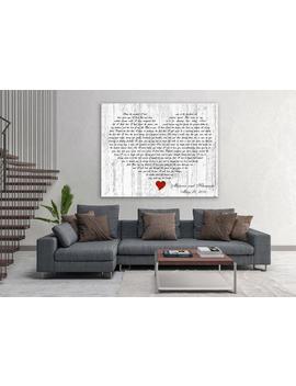 First Dance Lyrics On Canvas, Your Wedding Song On Canvas, Heart Shaped Song Lyrics, Song Lyrics Art, Song Lyrics Canvas, Custom Lyrics by Etsy