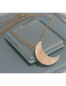 """Vacation Movie Christina Applegate Authentic Gold Crescent Moon Stevie Nicks Style Necklace 20"""" by Etsy"""