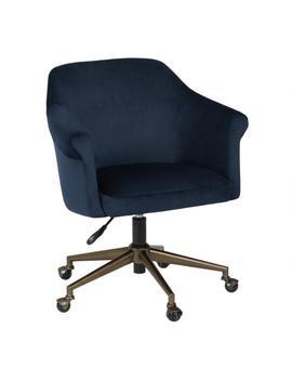 Blue Velvet Declan Upholstered Office Chair by World Market