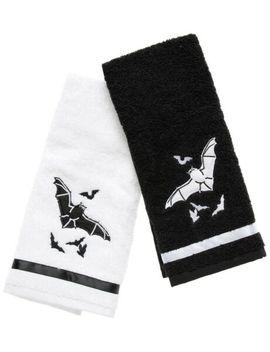 Sourpuss Bats Hand Towel Gift Set Bathroom Home Decor Goth Punk Horror Halloween by Sourpuss