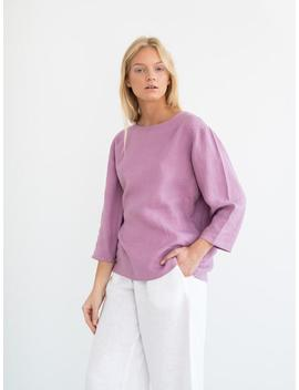 Stella Simple Linen Top / Loose Linen Shirt / Linen Blouse / Handmade Clothing For Women by Etsy