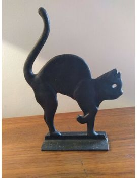 vintage-unique-rare-black-scared-cat-halloween-or-cat-lover-doorstop by unbranded