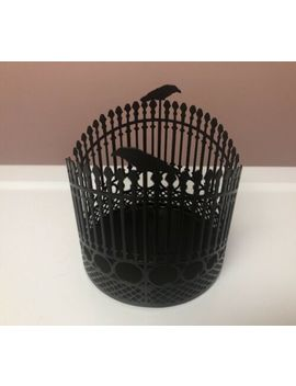 Yankee Candle Raven Night Halloween Gate Fence Black Candle Holder by Yankee Candle