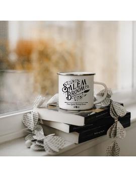 Salem Broom Co Mug, Halloween Mug, Witch Mug, Fall Mug, Enamel Mug, Autumn Mug, Fall Coffee Mug, Halloween Gifts, Witch Mugs, Halloween by Etsy