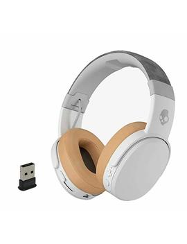 Skullcandy Crusher Wireless Bluetooth Over Ear Headphone Bundle Bundle With Plugable Usb 2.0 Bluetooth Adapter   Gray/Tan by Skullcandy