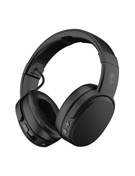 Skullcandy Crusher Bluetooth Wireless Over Ear Headphones With Microphone   (Renewed) (Black) by Amazon Renewed