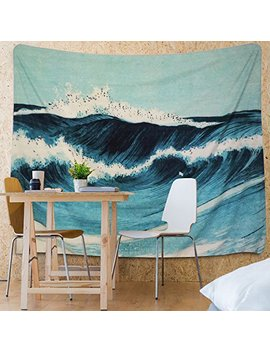 Martine Mall Tapestry Wall Tapestry Wall Hanging Tapestries Ocean Tapestry Wall Art Ocean Wave Decor Blue Indian Tapestry Wall Blanket Wall Decor Wall Art Home Decor Wall Hanging Art 82 X 59 Inches by Martine Mall