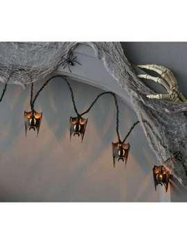 Hyde And Eek! Boutique 10 Sleeping Bat String Lights Indoor/Outdoor 9' by Hyde And Eek