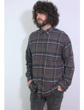 Vintage Flannel Thick Check Shirt , Large by Purple Hat Vintage
