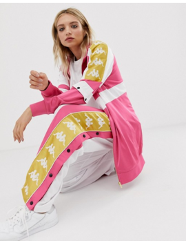 Kappa Popper Tracksuit Top With Banda Taping Two Piece by Kappa