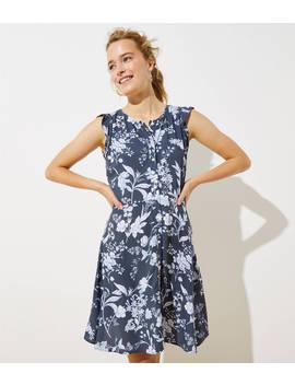 Floral Button Down Flutter Dress by Loft