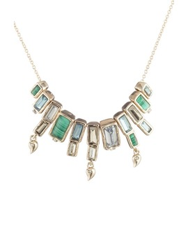 Articulated Baguette Molten Metal Necklace by Alexis Bittar