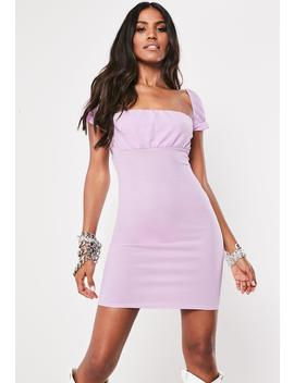 Lilac Milkmaid Bodycon Mini Dress by Missguided