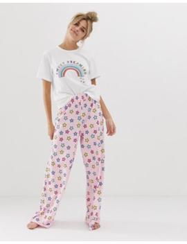 Asos Design Mix &Amp; Match Sweet Dreaming Traditional Pyjama Jersey Trouser by Asos Design