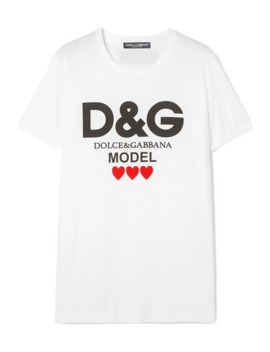 Printed Cotton Jersey T Shirt by Dolce &Amp; Gabbana
