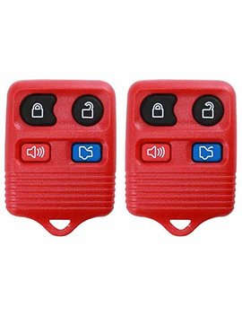 2 Keyless Option Red Replacement 4 Button Keyless Entry Remote Control Key Fob by Keyless Option