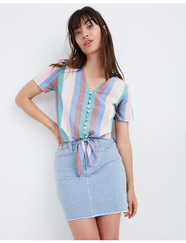 novel-tie-front-button-top-in-flagstaff-stripe by madewell