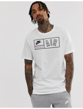 Nike Air Box Logo T Shirt White by Nike