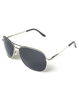 J+S Premium Military Style Classic Aviator Sunglasses, Polarized, 100% Uv Protection by J+S