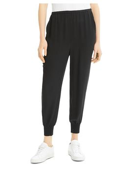 Silk Jogger Pants by Theory