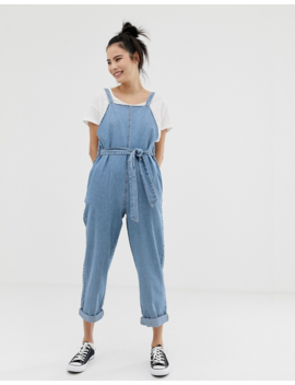 Pull&Amp;Amp;Bear Denim Jumpsuit In Light Blue by Pull&Amp;Bear