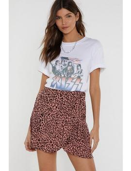 Tail It To Someone Who Cares Leopard Mini Skirt by Nasty Gal