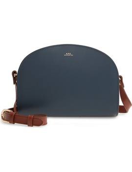 Sac Demi Lune Colorblock Leather Crossbody Bag by A.P.C.